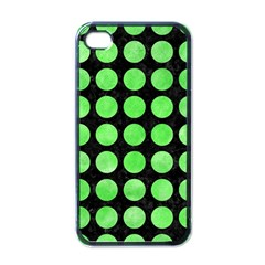 Circles1 Black Marble & Green Watercolor Apple Iphone 4 Case (black)