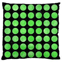 Circles1 Black Marble & Green Watercolor Large Cushion Case (two Sides)