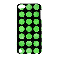 Circles1 Black Marble & Green Watercolor Apple Ipod Touch 5 Hardshell Case