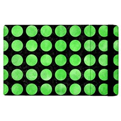 Circles1 Black Marble & Green Watercolor Apple Ipad 2 Flip Case