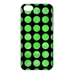Circles1 Black Marble & Green Watercolor Apple Iphone 5c Hardshell Case