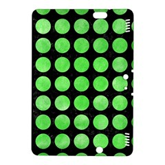 Circles1 Black Marble & Green Watercolor Kindle Fire Hdx 8 9  Hardshell Case