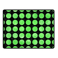 Circles1 Black Marble & Green Watercolor Double Sided Fleece Blanket (small)