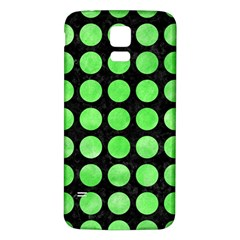 Circles1 Black Marble & Green Watercolor Samsung Galaxy S5 Back Case (white)