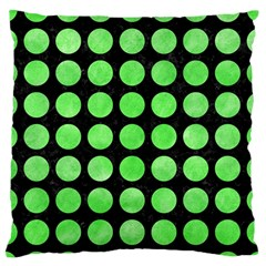 Circles1 Black Marble & Green Watercolor Standard Flano Cushion Case (one Side)