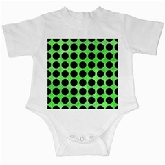 Circles1 Black Marble & Green Watercolor (r) Infant Creepers