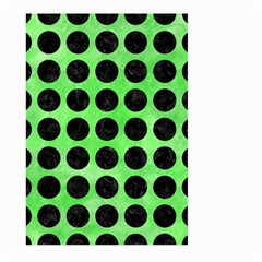 Circles1 Black Marble & Green Watercolor (r) Large Garden Flag (two Sides)