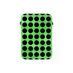 Circles1 Black Marble & Green Watercolor (r) Apple Ipad Mini Protective Soft Cases