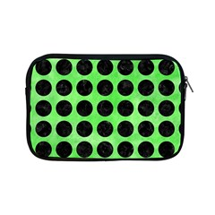 Circles1 Black Marble & Green Watercolor (r) Apple Ipad Mini Zipper Cases