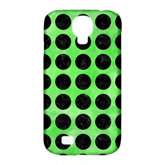 Circles1 Black Marble & Green Watercolor (r) Samsung Galaxy S4 Classic Hardshell Case (pc+silicone)