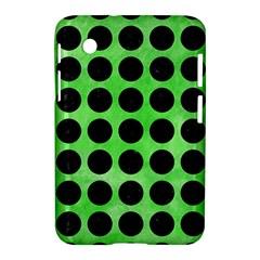 Circles1 Black Marble & Green Watercolor (r) Samsung Galaxy Tab 2 (7 ) P3100 Hardshell Case