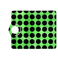 Circles1 Black Marble & Green Watercolor (r) Kindle Fire Hdx 8 9  Flip 360 Case