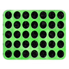 Circles1 Black Marble & Green Watercolor (r) Double Sided Flano Blanket (large)