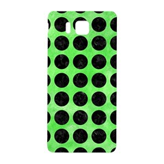 Circles1 Black Marble & Green Watercolor (r) Samsung Galaxy Alpha Hardshell Back Case