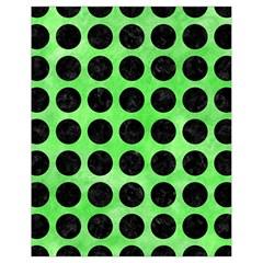 Circles1 Black Marble & Green Watercolor (r) Drawstring Bag (small)
