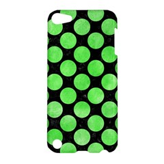 Circles2 Black Marble & Green Watercolor Apple Ipod Touch 5 Hardshell Case