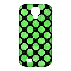 Circles2 Black Marble & Green Watercolor Samsung Galaxy S4 Classic Hardshell Case (pc+silicone)