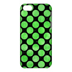 Circles2 Black Marble & Green Watercolor Apple Iphone 5c Hardshell Case