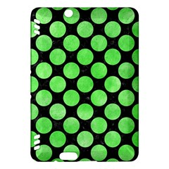 Circles2 Black Marble & Green Watercolor Kindle Fire Hdx Hardshell Case