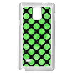Circles2 Black Marble & Green Watercolor Samsung Galaxy Note 4 Case (white)