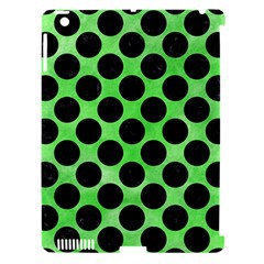 Circles2 Black Marble & Green Watercolor (r) Apple Ipad 3/4 Hardshell Case (compatible With Smart Cover)