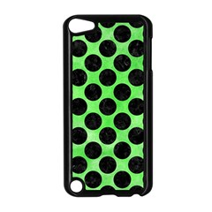 Circles2 Black Marble & Green Watercolor (r) Apple Ipod Touch 5 Case (black)