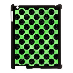 Circles2 Black Marble & Green Watercolor (r) Apple Ipad 3/4 Case (black)