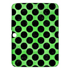 Circles2 Black Marble & Green Watercolor (r) Samsung Galaxy Tab 3 (10 1 ) P5200 Hardshell Case