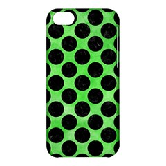 Circles2 Black Marble & Green Watercolor (r) Apple Iphone 5c Hardshell Case