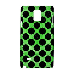 Circles2 Black Marble & Green Watercolor (r) Samsung Galaxy Note 4 Hardshell Case