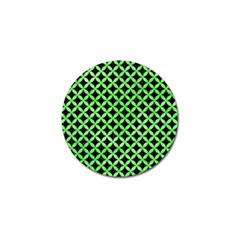 Circles3 Black Marble & Green Watercolor Golf Ball Marker (10 Pack)