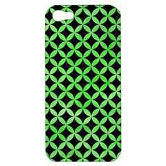 Circles3 Black Marble & Green Watercolor Apple Iphone 5 Hardshell Case