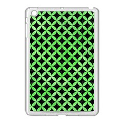 Circles3 Black Marble & Green Watercolor Apple Ipad Mini Case (white)