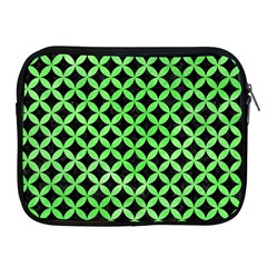 Circles3 Black Marble & Green Watercolor Apple Ipad 2/3/4 Zipper Cases
