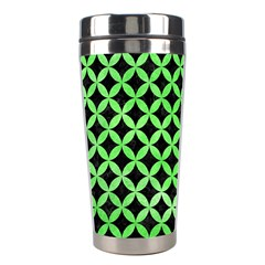 Circles3 Black Marble & Green Watercolor Stainless Steel Travel Tumblers