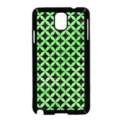 Circles3 Black Marble & Green Watercolor Samsung Galaxy Note 3 Neo Hardshell Case (black)