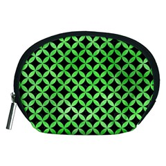 Circles3 Black Marble & Green Watercolor Accessory Pouches (medium)