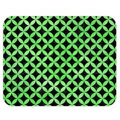 Circles3 Black Marble & Green Watercolor Double Sided Flano Blanket (medium)