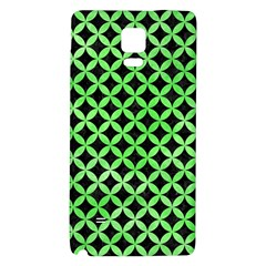 Circles3 Black Marble & Green Watercolor Galaxy Note 4 Back Case