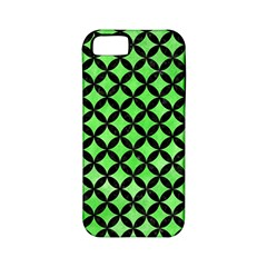 Circles3 Black Marble & Green Watercolor (r) Apple Iphone 5 Classic Hardshell Case (pc+silicone)