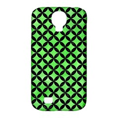Circles3 Black Marble & Green Watercolor (r) Samsung Galaxy S4 Classic Hardshell Case (pc+silicone)