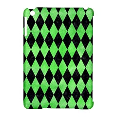 Diamond1 Black Marble & Green Watercolor Apple Ipad Mini Hardshell Case (compatible With Smart Cover)