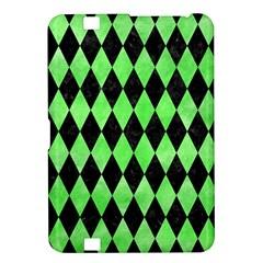 Diamond1 Black Marble & Green Watercolor Kindle Fire Hd 8 9