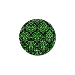 Damask1 Black Marble & Green Watercolor Golf Ball Marker