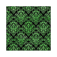 Damask1 Black Marble & Green Watercolor Acrylic Tangram Puzzle (6  X 6 )