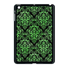Damask1 Black Marble & Green Watercolor Apple Ipad Mini Case (black)