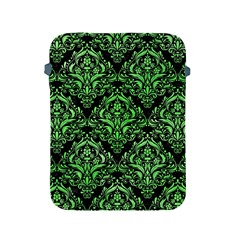 Damask1 Black Marble & Green Watercolor Apple Ipad 2/3/4 Protective Soft Cases