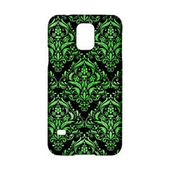 Damask1 Black Marble & Green Watercolor Samsung Galaxy S5 Hardshell Case