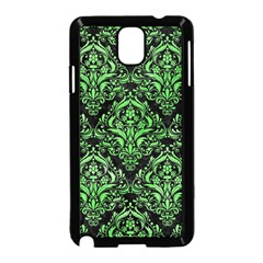 Damask1 Black Marble & Green Watercolor Samsung Galaxy Note 3 Neo Hardshell Case (black)