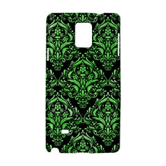 Damask1 Black Marble & Green Watercolor Samsung Galaxy Note 4 Hardshell Case